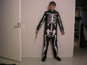 Příprava na halloweenskou párty