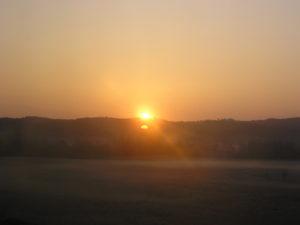 Východ slunce v Německu