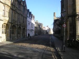 Typická ulice centrální části města