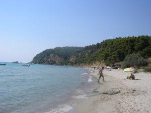 Naše část pláže
